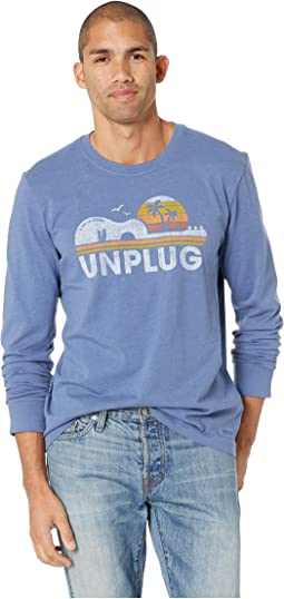 Unplug Beach Guitar Crusher Long Sleeve T-Shirt