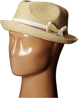 0c613ab59767b Steve Madden Two Weave Banded Fedora at Zappos.com