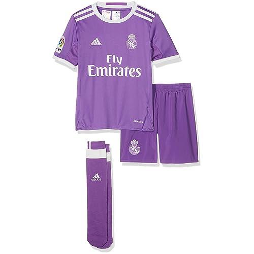 adidas Performance Real Madrid Away 16 17 Boys Football Mini Kit - Purple 41d3eaf82