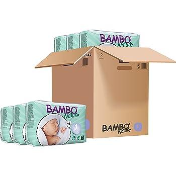 Abena Bambo Nature nouveau-né couches Taille 1(2–4kg, 4–4,1kilogram)–6paquets de 28couches (168)