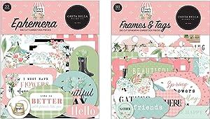 Carta Bella Paper Collection Bundle: Flower Garden Ephemera + Flower Garden Frames & Tags Ephemera