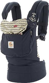 Ergobaby 经典*项符合人体工程学的多位置婴儿背带,加大号储物袋,水手
