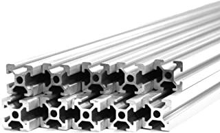 10 Pack ZYLtech Silver 2020 T Slot Aluminum Extrusion for 3D Printer and CNC - 10X 1M