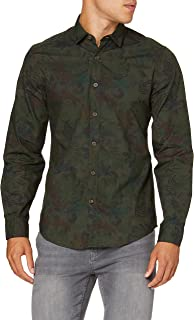 Springfield Camouflage Pirnt Digital Camisa Casual para Hombre