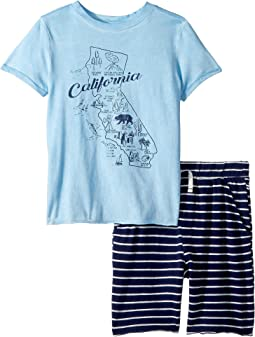 Splendid Littles California Map Tee Set (Little Kids/Big Kids)