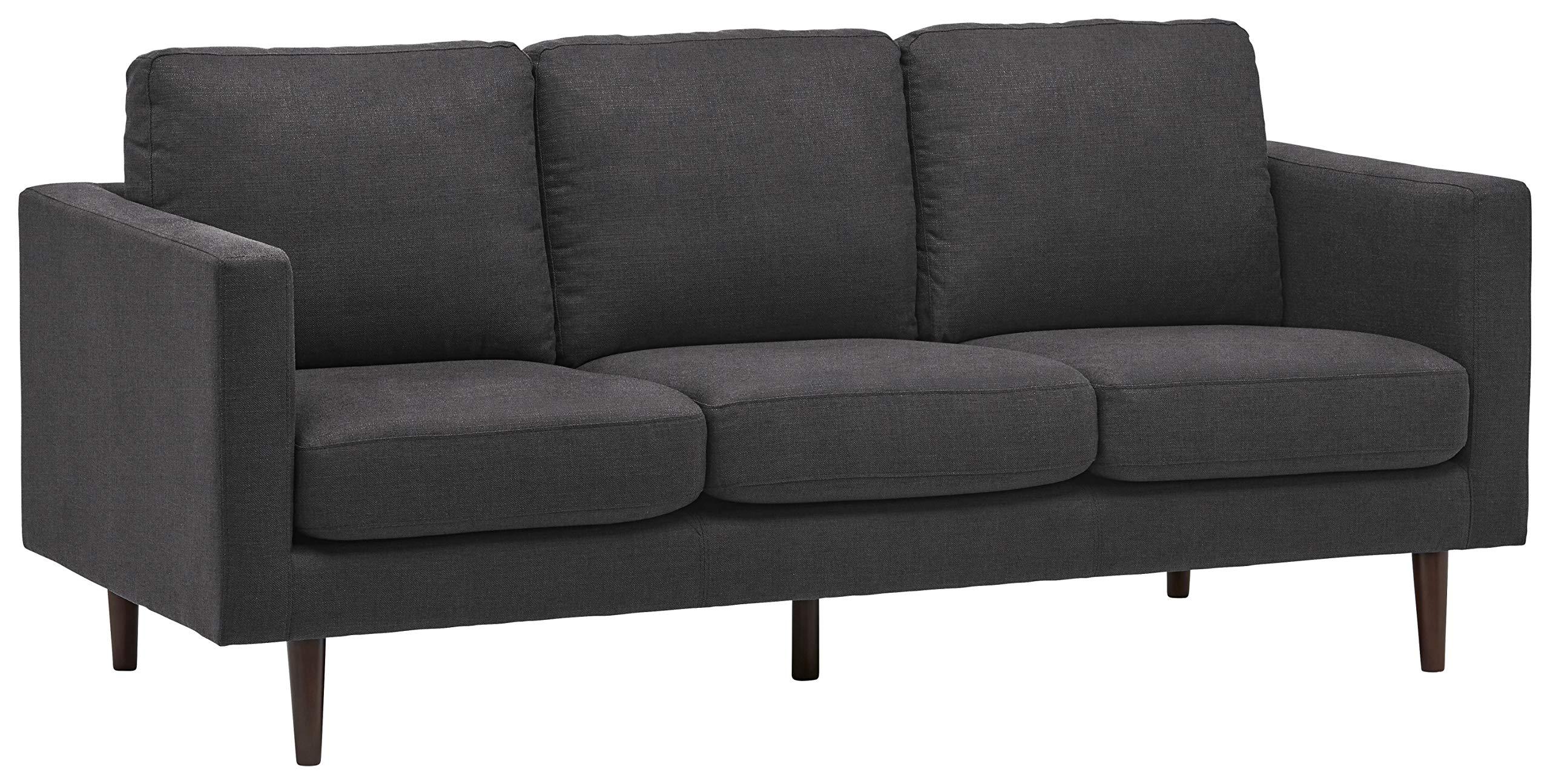 "Amazon Brand – Rivet Revolve Modern Upholstered Sofa Couch, 80""W, Storm Grey"