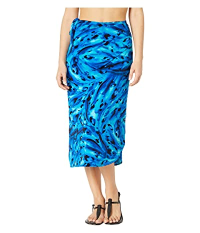 Miraclesuit Ocean Ocelot Long Sarong Cover-Up (Blue) Women
