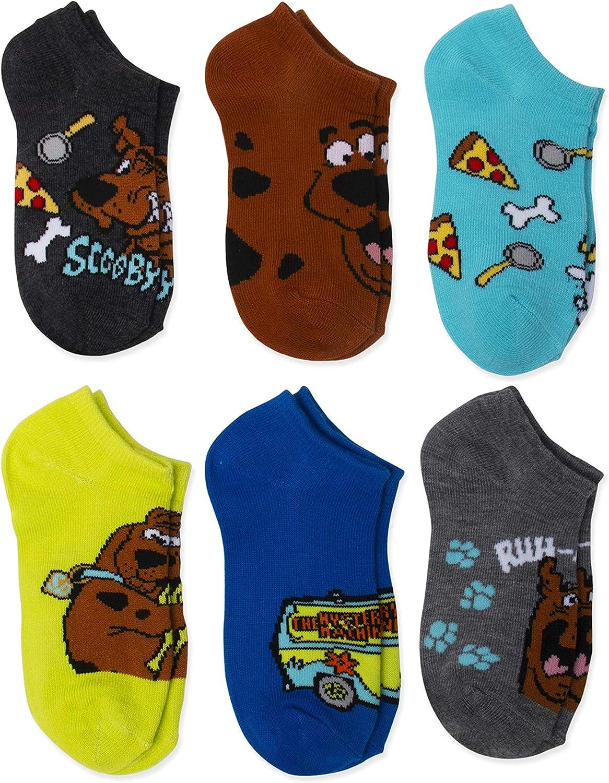 Scooby Doo! Boys 6-Pack No-Show Socks