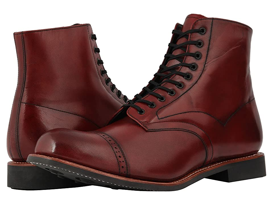 Stacy Adams Madison Cap Toe Lace Up Boot (Cranberry) Men