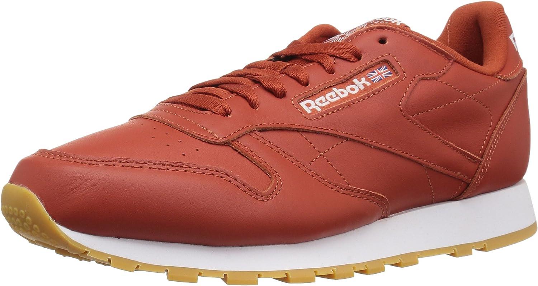Reebok Men's Classic Leather Walking shoes, fg-Burnt Amber White Gum, 14 M US