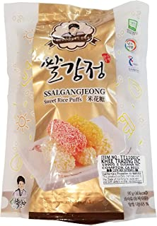 Rice Puffs Snacks Chips / Crunch Rollers with Puffed rice and Grain Syrup. / Fluffy Sweet / Korean Traditional Snack