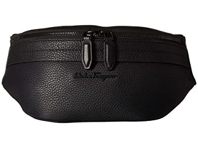 Salvatore Ferragamo Black on Black Belt Bag 24A128 (Black) Bags