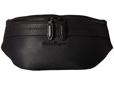 Salvatore Ferragamo Black on Black Belt Bag - 24A128 at Luxury ... 169d56f80e6c8