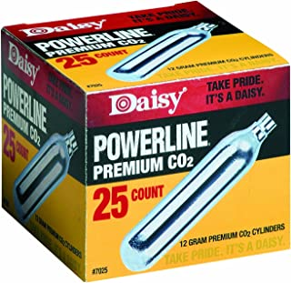 Daisy Outdoor Products 25 Count CO2 Cylinder, Silver, 12gm