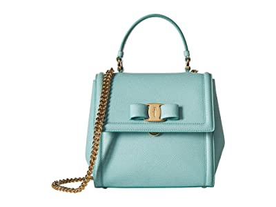 Salvatore Ferragamo Small Carrie Satchel (Aquarelle) Cross Body Handbags