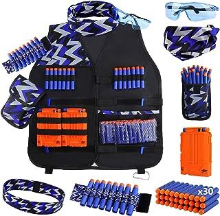 UWANTME Kids Tactical Vest Kit for Nerf Guns N-Strike Elite Series for Boys Girls