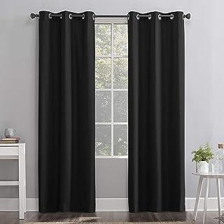 "Sun Zero Cyrus Thermal 100% Blackout Grommet Curtain Panel, 40"" x 63"", Charcoal"