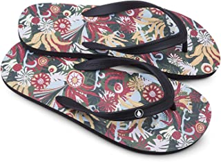 Volcom Men's Rocker 2 Graphic Print Flip Flop Sandal