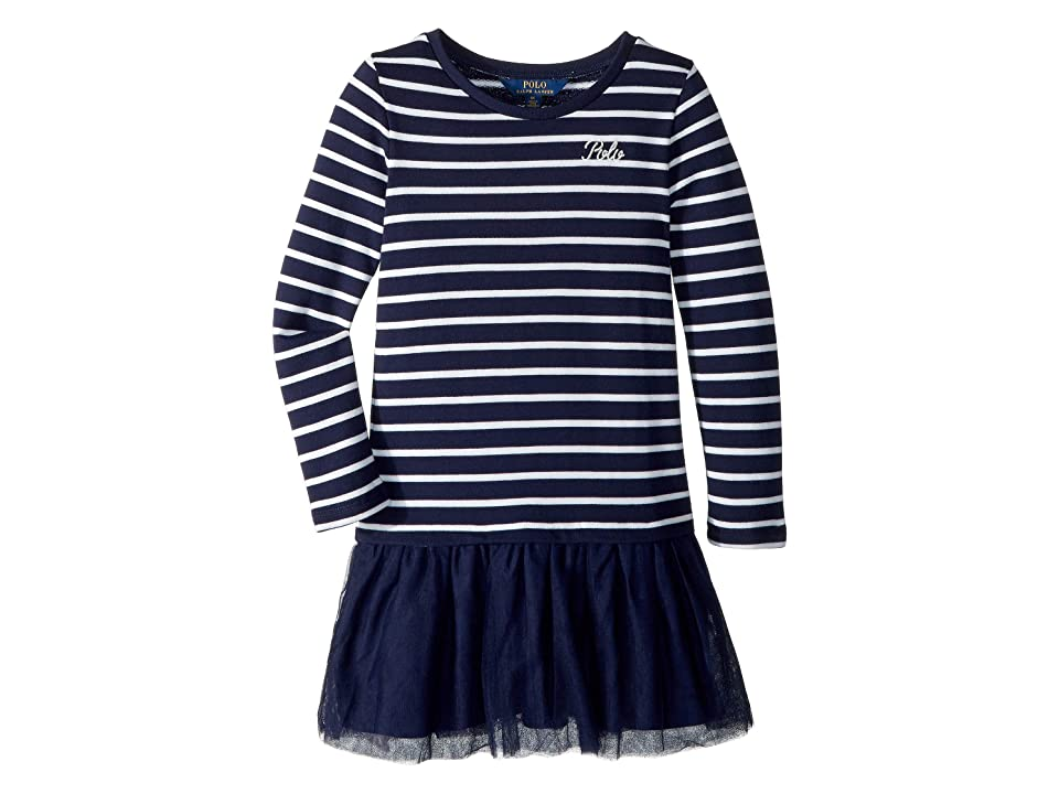 1920s Children Fashions: Girls, Boys, Baby Costumes Polo Ralph Lauren Kids Striped Terry-Tulle Dress Little Kids French NavyWhite Girls Dress $59.50 AT vintagedancer.com