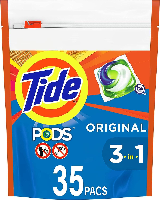 Tide PODS Liquid Laundry Detergent Pacs, Original, 35 count : Health & Household