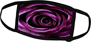 3dRose Face Mask Medium, Image of Macro Plum Color Rose With All Its Layers