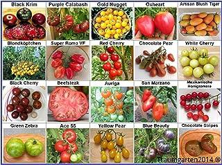 Tomaten Set 1: In Deutschland angebaut, TOP Qualität ohne Gentechnik und Pestizide, 100% Naturbelassen und samenfest, Fleischtomate Cherrytomate Cockteiltomate Rispentomate Freilandtomate, Sammlung von Raritäten