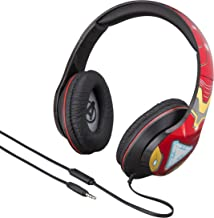 Marvel Over The Ear Wired Headphones with Built in Microphone Quality Sound from The Makers of iHome (Avengers Infinity War)