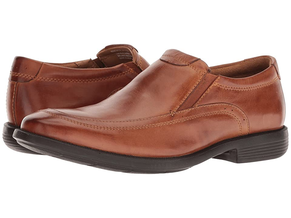 Nunn Bush Dylan Moc Toe Loafer with KORE Walking Comfort Technology (Cognac) Men