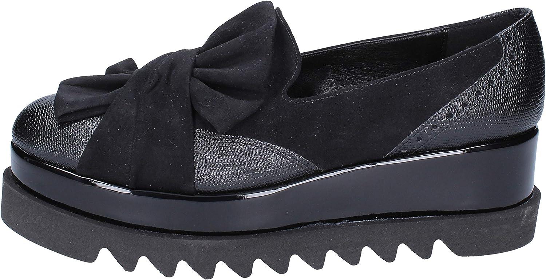 OLGA RUBINI Loafers-shoes Womens Black