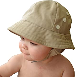 Huggalugs Baby & Toddler Boys Twill Earflap UPF 50+ Sunhat with Chinstrap in 2 Color Choices