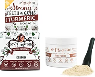 My Magic Mud - Turmeric Tooth Powder, Polishes, Soothes Gums & Mouth, Cinnamon, 1.41 oz. (150 uses)