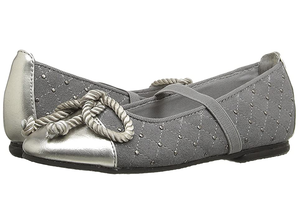 Jumping Jacks Kids Balleto Katrina (Toddler/Little Kid/Big Kid) (Pewter Suede/Krinkle) Girls Shoes