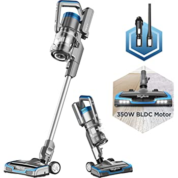 Eureka Stylus Lightweight Cordless Vacuum Cleaner, 350W Powerful BLDC Motor for Multi-Flooring Deep Clean LED Headlights, Convenient Stick and Handheld Vac, Premium, Blue