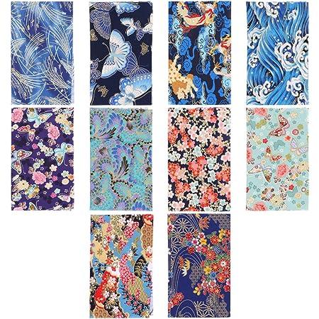 HEALLILY Coton Artisanat Bundle Style Japonais Patchwork Patchwork Couture Patchwork Motif Différent Bricolage Scrapbooking Artisanat pour Le Travail Manuel 10 Pcs