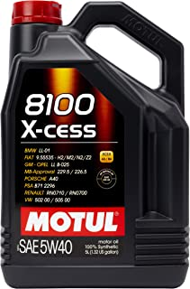 Motul MTL102870 007250 8100 X-cess 5W-40 Synthetic Gasoline and Diesel Engine Oil –..