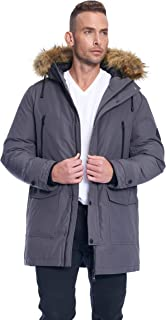 Alpine North Mens Vegan Down Drawstring Winter Jacket