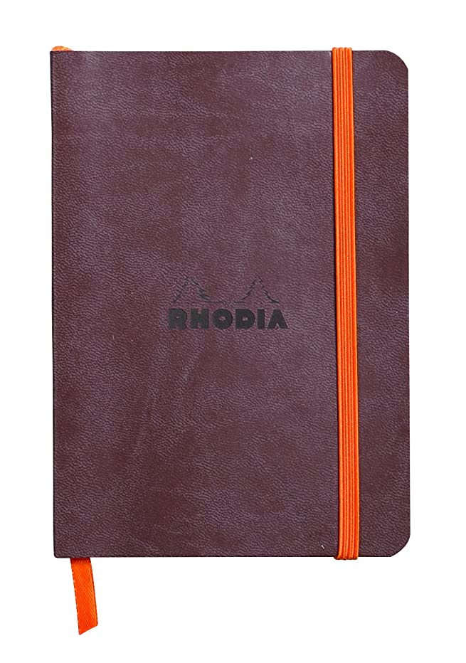 Rhodia Rhodiarama SoftCover Notebook - 72 Dots Sheets - 4 x 5 1/2 - Chocolate Cover