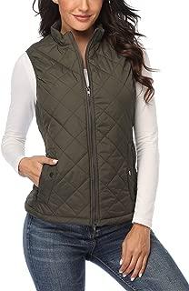 Women Lightweight Quilted Padded Vest Stand Collar Zip Up Winter Outwear Gilet