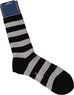 MEN'S RIBBED STRIPED COTTON/NYLON DRESS SOCKS ONE SIZE