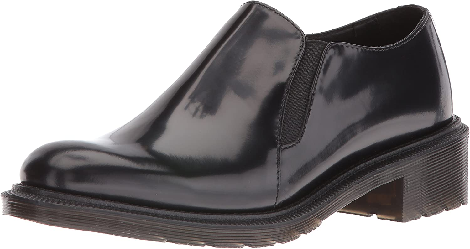 Dr. Martens Womens Rosyna Wax Polished Smooth Slip-On Loafer