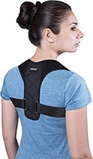 Posture Corrector for Men&Women Comfortable -Adjustable Back Brace Back Straightener Clavicle Brace for Improve Humpback Thoracic Kyphosis and Upper Back Shoulder Neck Pain Relief