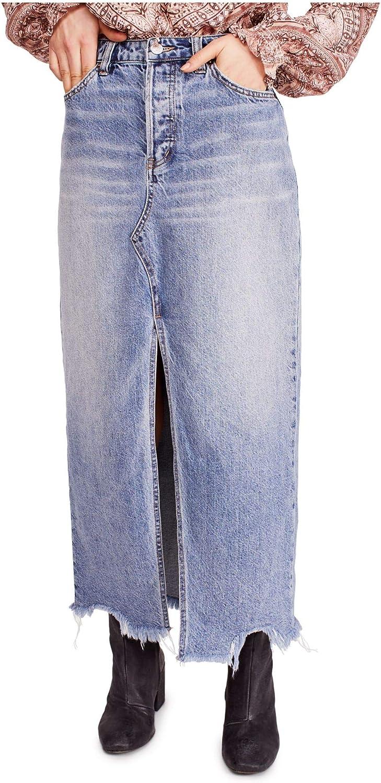 Free People Women's Rhiannon Maxi Jean Skirt