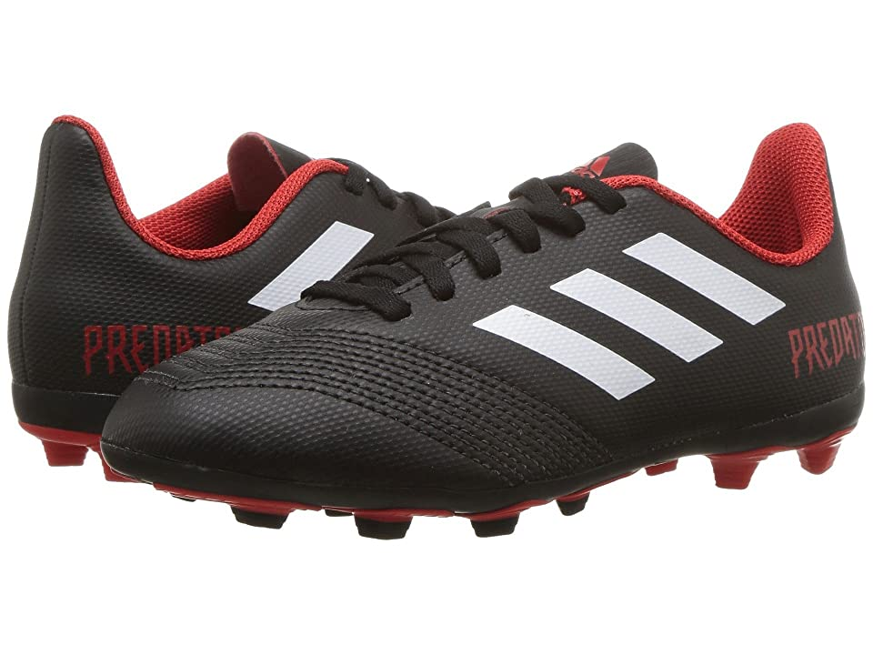 adidas Kids Predator 18.4 FxG Soccer (Little Kid/Big Kid) (Black/White/Red) Kids Shoes