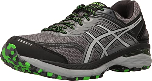 ASICS Men's GT-2000 5 Trail Runner, Carbon Mid gris verde Gecko, 6.5 M US