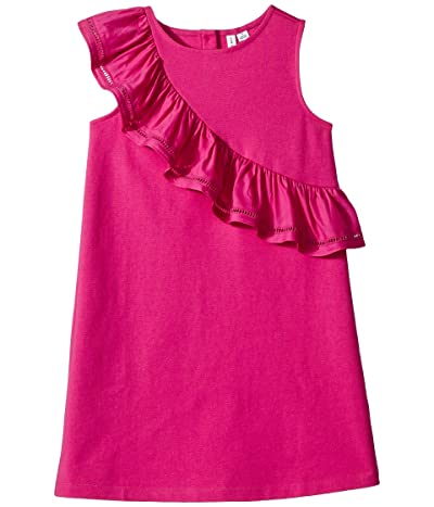 Janie and Jack Ruffle Ponte Dress (Toddler/Little Kids/Big Kids) (Magenta) Girl