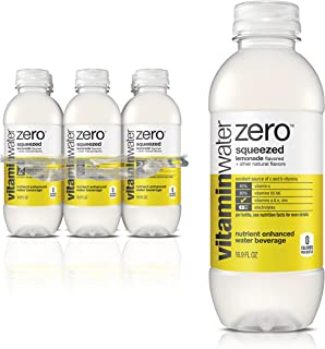 vitaminwater zero squeezed, electrolyte enhanced water w/ vitamins, lemonade drinks, 16.9 fl oz, 6 Pack