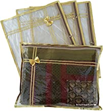 6 Pack/Sari Saree Cover/Lehenga Cover Bags Packaging Storage/Clear Plastic with Attractive Design