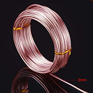 32.8 Feet Aluminum Wire, Bendable Metal Craft Wire for Making Dolls Skeleton DIY Crafts (Copper, 3 mm Thickness)