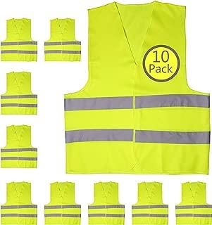 yellow traffic vest