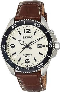 Seiko Mixte Analogique Montre avec Bracelet en Cuir SKA749P1